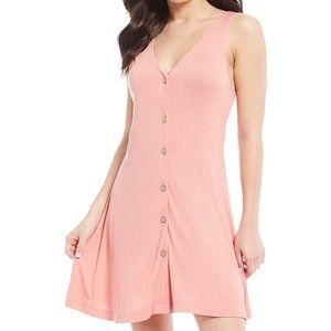 Roxy Juniors Peach Dream Do Casual Dress - L